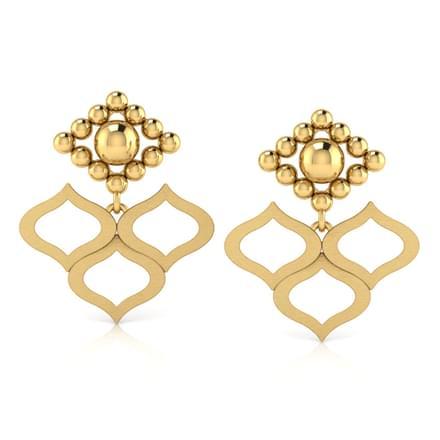 Pattern Jharokha Drop Earrings