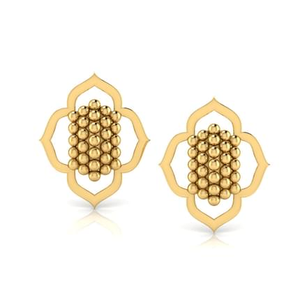 Floral Jharokha Stud Earrings