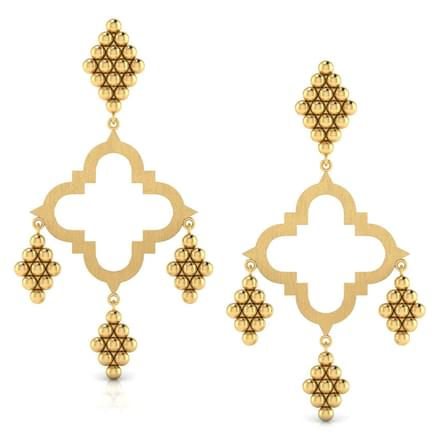 Hanging Jharokha Drop Earrings