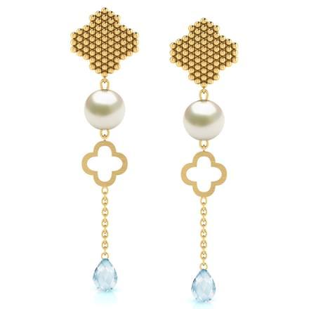 Clover Jharokha Drop Earrings