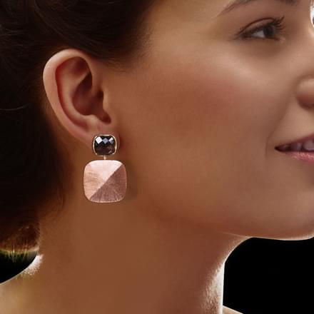 Haylee Stamped Drop Earrings