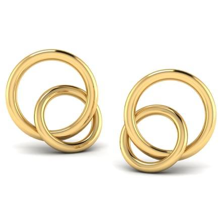 Dual 'O' Stud Earrings