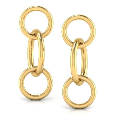Entwined 'O' Drop Earrings