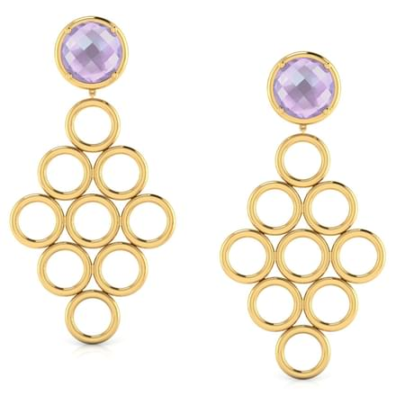 Symmetric 'O' Chandelier Earrings