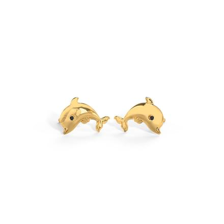 Jumping Dolphin Stud Earrings