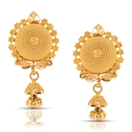 Aashna Beaded Gold Drop Earrings