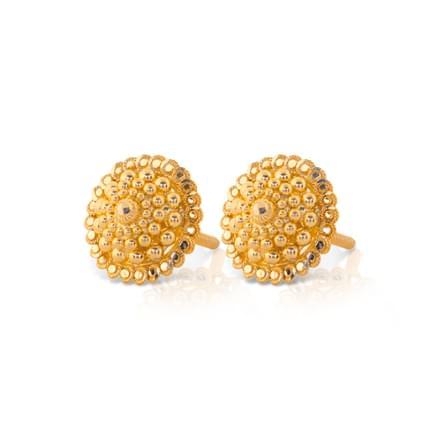 Jetal Granulated Gold Stud Earrings