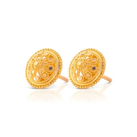 Kina Granuled Stud Earrings