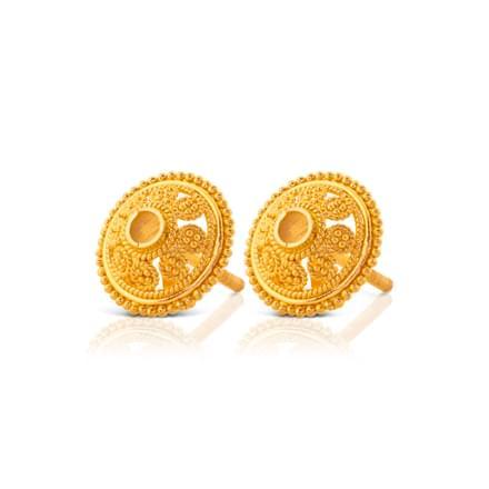 Ekani Granulated Gold Stud Earrings
