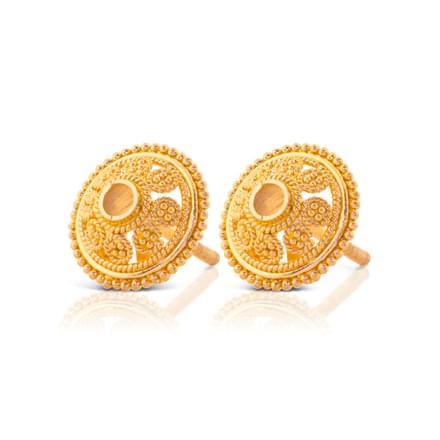 Aavya Beaded Gold Stud Earrings