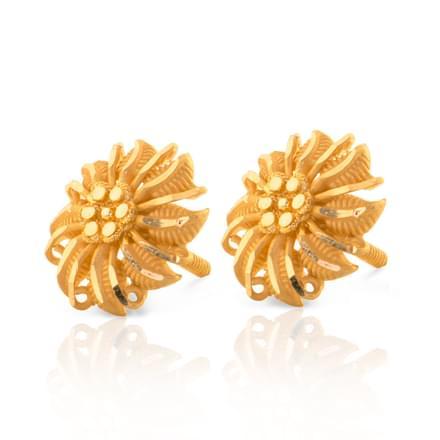 Elika Array Gold Stud Earrings