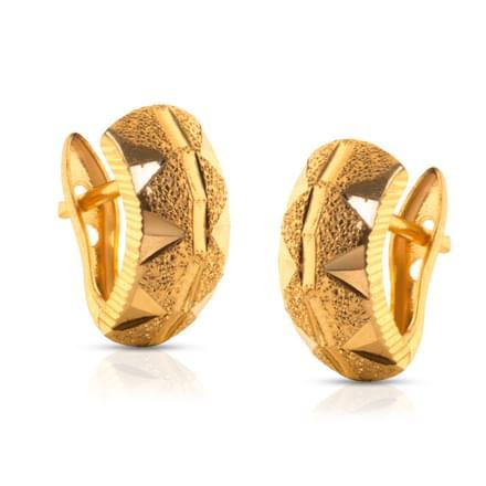 Elili Pyramid Gold Earrings