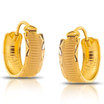 Elina Lined Gold Earrings