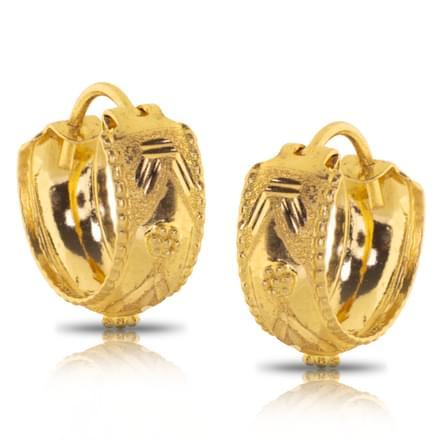 Jesal Granulated Gold Earrings