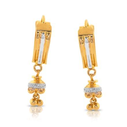 Ahina Beaded Gold Drop Earrings