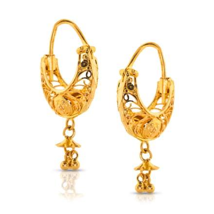 Jeni Filigree Gold Hoop Earrings
