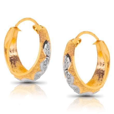 Jency Zig Zag Gold Hoop Earrings