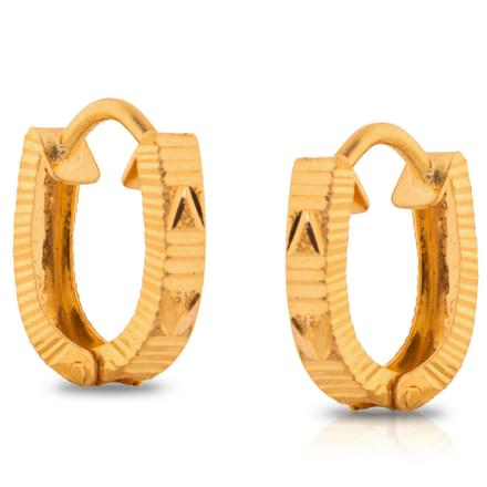 Jini Patterned Gold Earrings