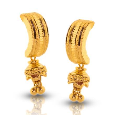 Dishi Beaded Gold Drop Earrings