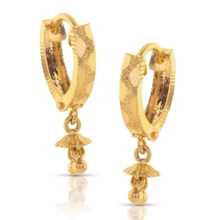 Akula Beaded Gold Drop Earrings