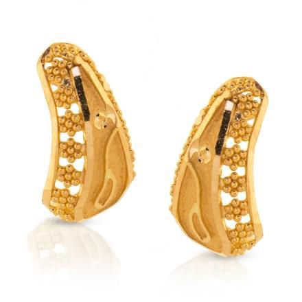 Akuti Granulated Gold Earrings
