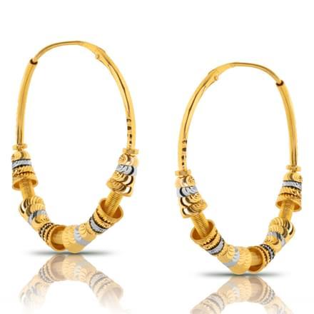Chiti  Sew Gold Hoop Earrings