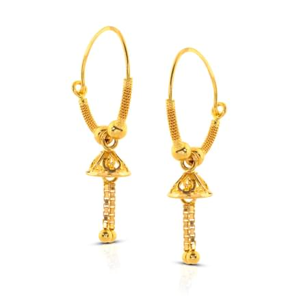 Aliva Beaded Gold Hoop Earrings