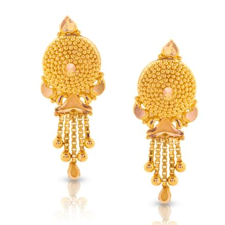 Divi Beaded Gold Drop Earrings