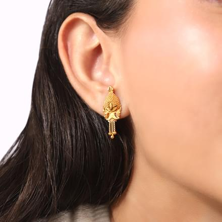 Esita Beaded Gold Drop Earrings