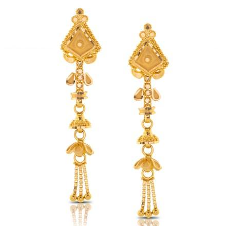 Aliya Beaded Gold Drop Earrings