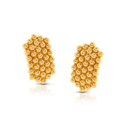 Fena Granulated Gold Stud Earrings