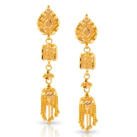 Aloki Beaded Gold Drop Earrings