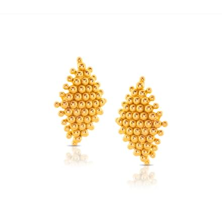 Alopa Granulated Gold Stud Earrings