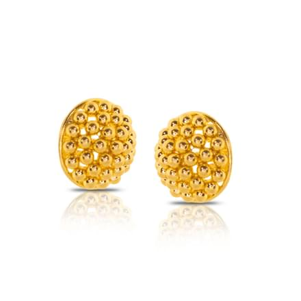 Charul Granulated Gold Stud Earrings