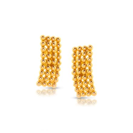 Alpa Granulated Gold Stud Earrings