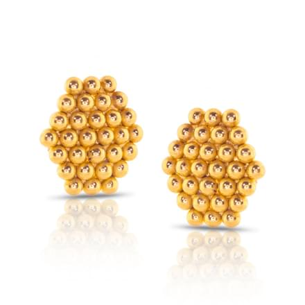 Jayna Granulated Gold Stud Earrings