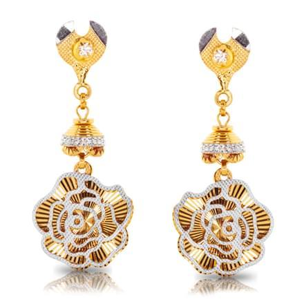 Gul Rose  Gold Drop Earrings