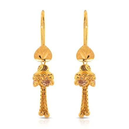 Hanu Beaded Gold Drop Earrings