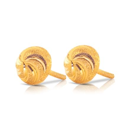 Chandi Beaded Gold Stud Earrings