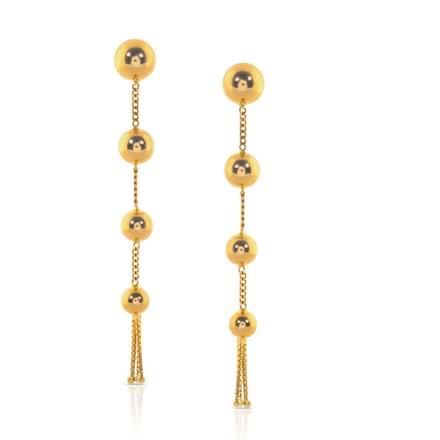 Amiti Beaded Gold Drop Earrings