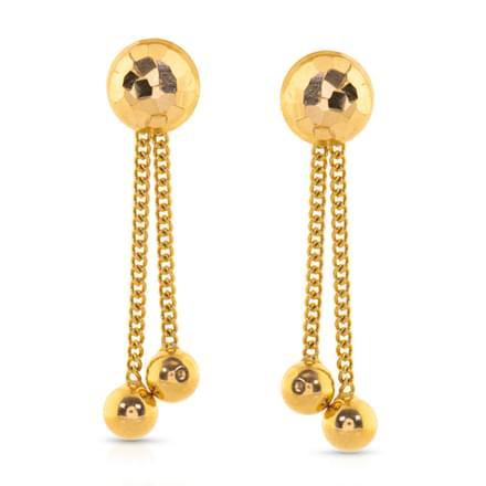 Heba Beaded Gold Drop Earrings