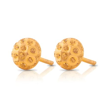 Amvi Beaded Gold Stud Earrings