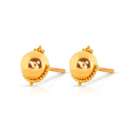Heela Beaded Gold Stud Earrings