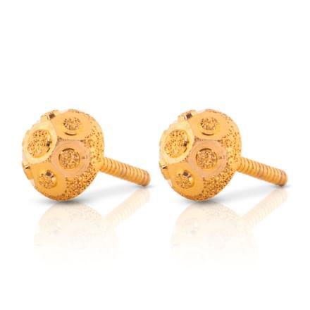 Anaya Beaded Gold Stud Earrings