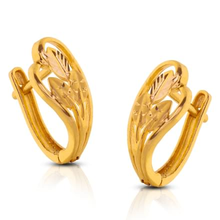 Chancy Leaf Gold Earrings