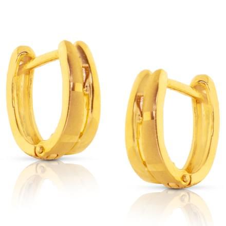 Anishi 2 Row Gold Earrings