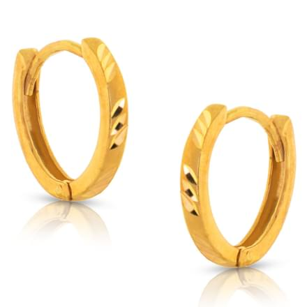 Jissy Textured Gold Earrings