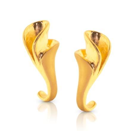 Anshi Twist Gold Stud Earrings