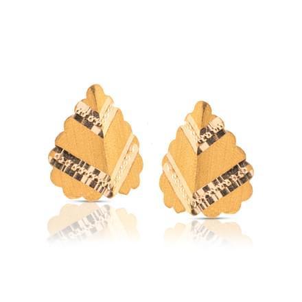 Anvi Beaded Gold Stud Earrings