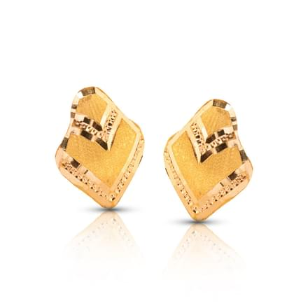 Arna Shine Gold Stud Earrings